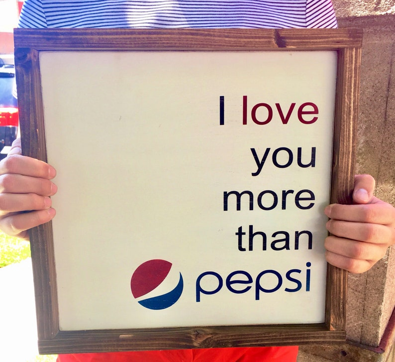 Pepsi Wood Wall Art Sign Rustic Wedding Decor Wooden Sign Art image 0
