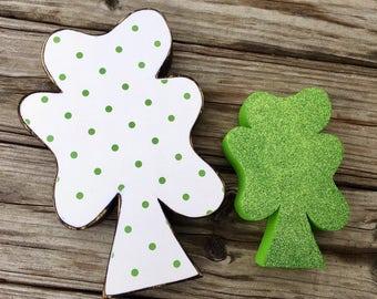 St. Patrick's Day Decor Lucky Clovers Leprechaun Decor Irish Decor Spring Decor Wooden Clovers Good Luck Gift Lucky Clover Decor Wood Art