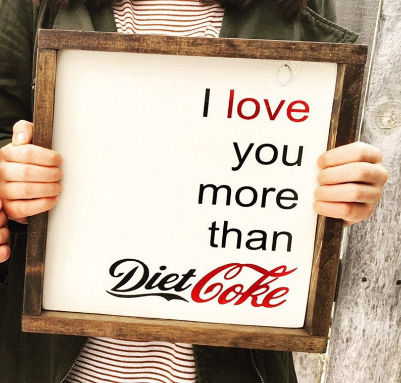 Valentine's Decor Gift Wood Sign I love you for image 0