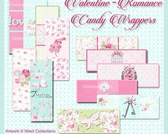 E65 - Valentine - Romance Candy Wrappers - Digital Download