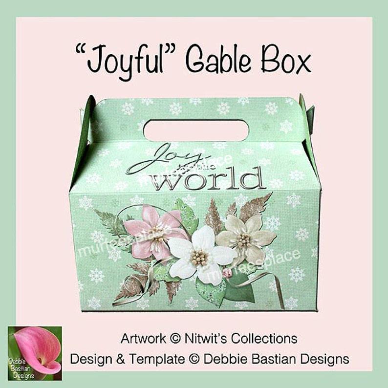 Joyful Gable Box Instant download