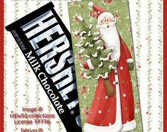 E10-Santa Christmas Chocolate Bar Cover