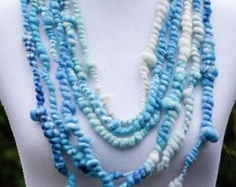 Ice Blue Bubble Necklace, Statement Necklace, Multi Strand Necklace, Bridal Necklace, Boho Wedding, Rustic Wedding, Something Blue