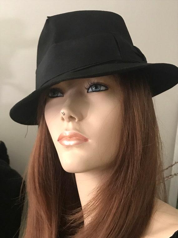 Vintage Borsalino Fedora / Black Borsalino Hat / 1