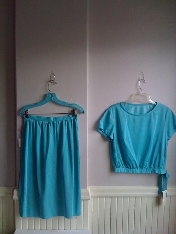 Women's Vintage  Clothing /1960's Turquoise 1960'… - image 6