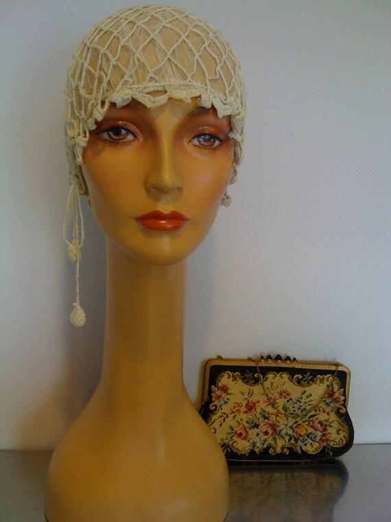 Antique Sleeping Bonnet/ Wedding Cap/ Victorian