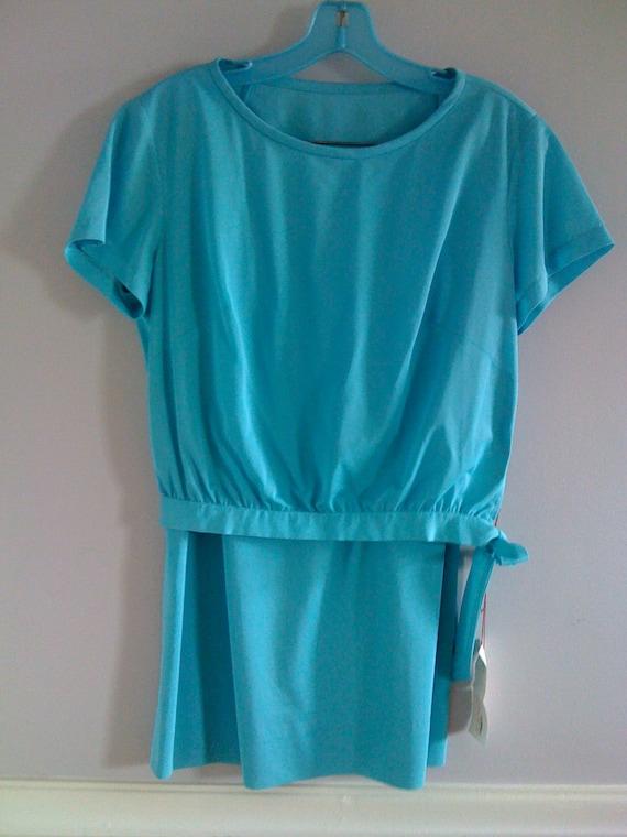 Women's Vintage  Clothing /1960's Turquoise 1960'… - image 10