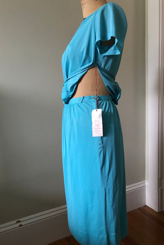 Women's Vintage  Clothing /1960's Turquoise 1960'… - image 4