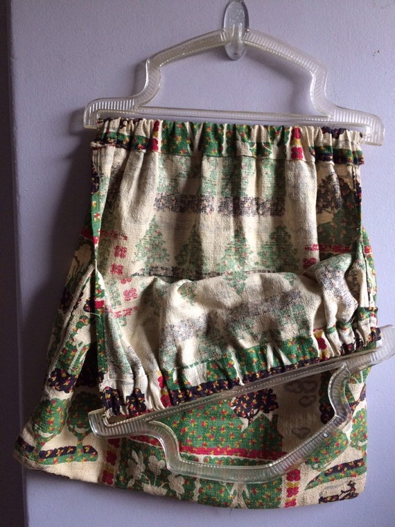 Vintage Barkcloth Bag/ Barkcloth Purse - image 4