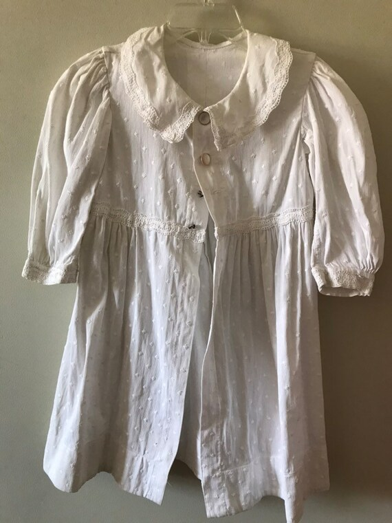 Antique Children's Clothing / White Coat / Late 18