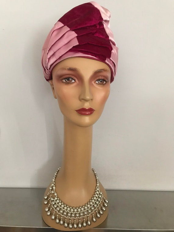 Vintage Turban Hat / Formal Turban Hat / 1950's M… - image 7