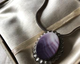 Vintage Wampun Pendant Pin Necklace / Wampum Pin & Pendant / Seashell  Jewelry / Native American Trade Jewelry