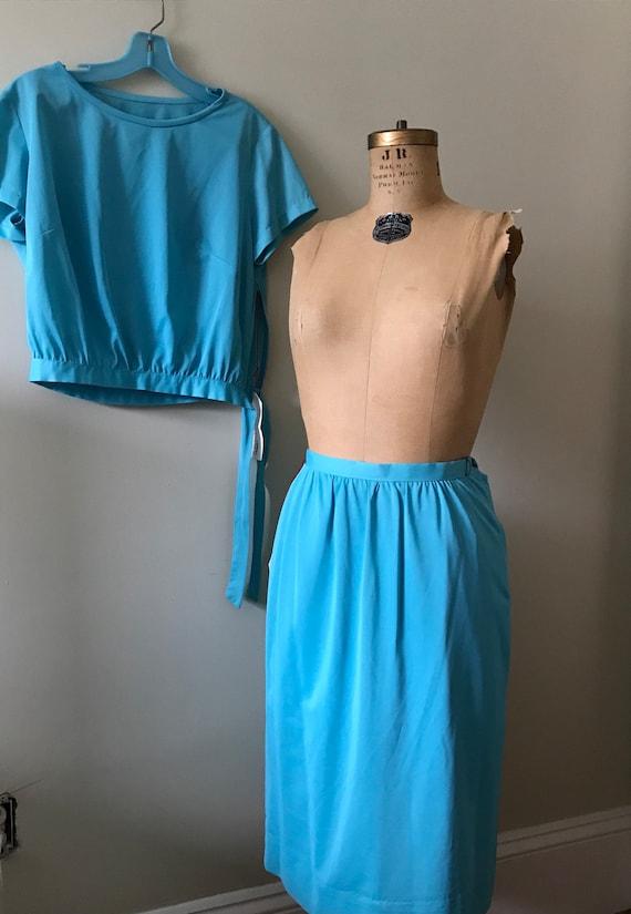 Women's Vintage  Clothing /1960's Turquoise 1960'… - image 5