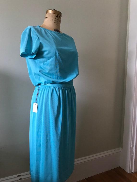 Women's Vintage  Clothing /1960's Turquoise 1960'… - image 3