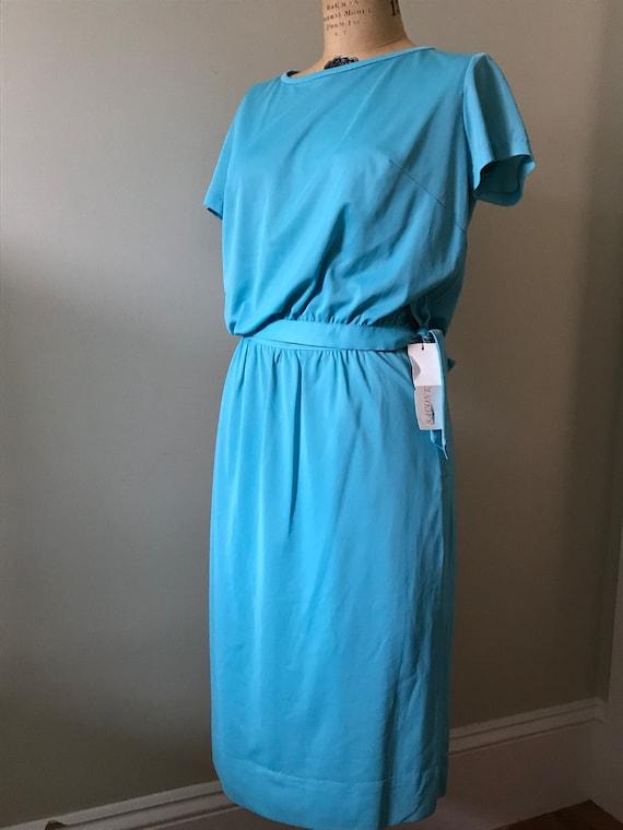 Women's Vintage  Clothing /1960's Turquoise 1960'… - image 1