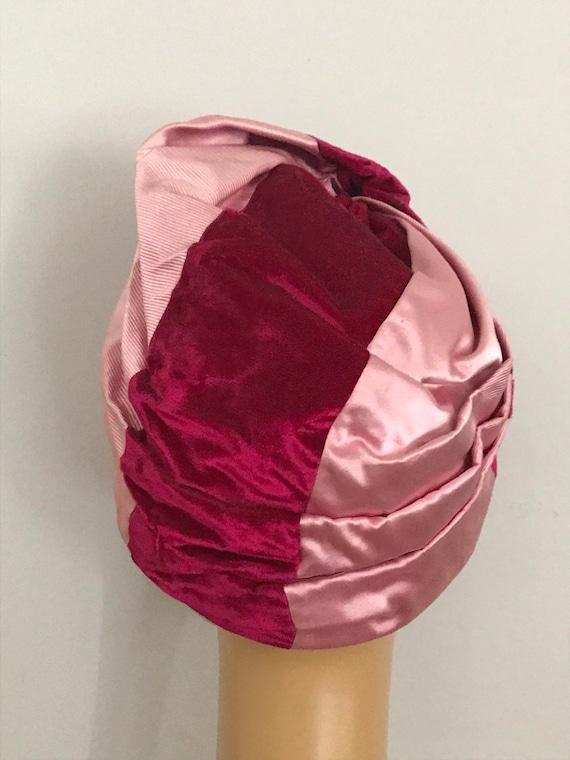 Vintage Turban Hat / Formal Turban Hat / 1950's M… - image 5