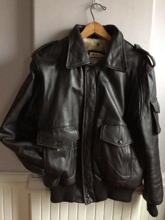 A-2 Leather Flight Jacket / Espresso Brown Leather