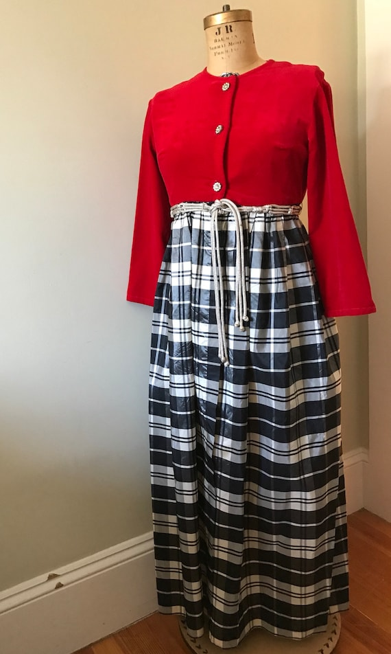Women's Vintage 1960's Lounging Gown / Cocktail Pa