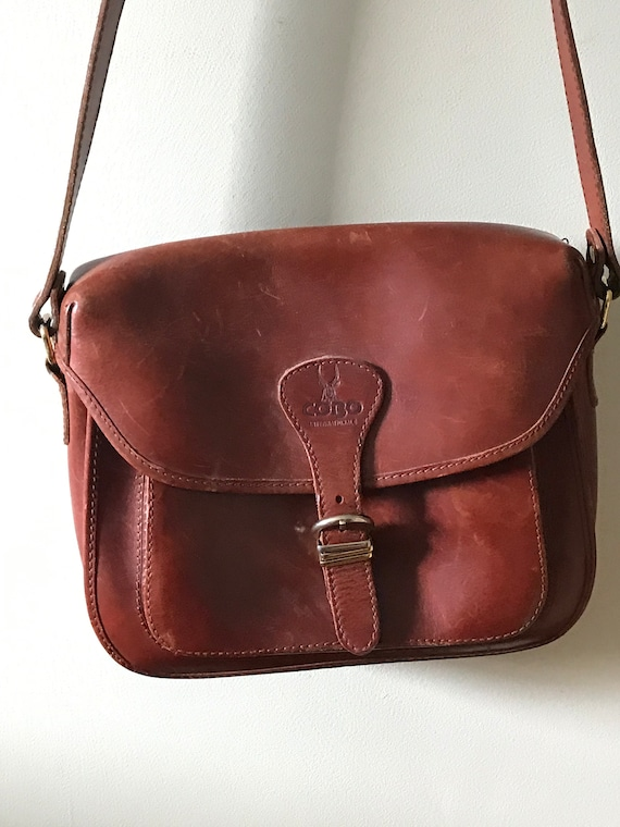 Leather Crossbody Messenger Bag /Cobo Leather Cros