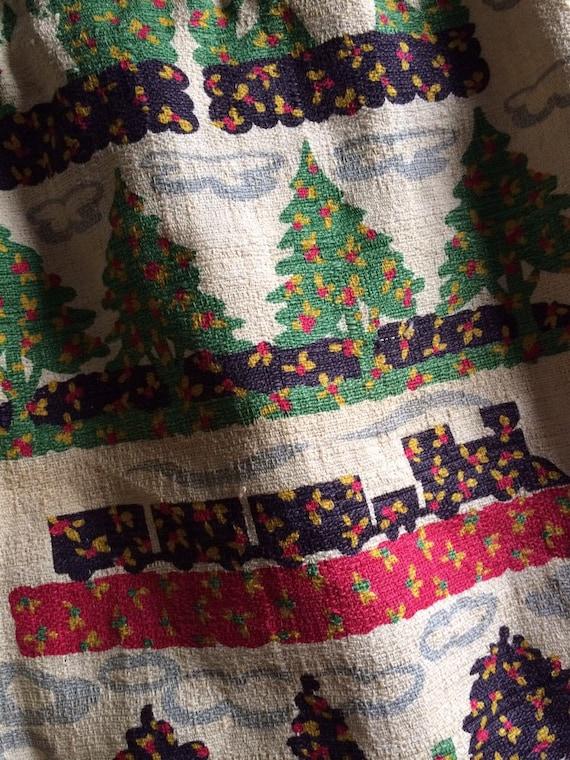 Vintage Barkcloth Bag/ Barkcloth Purse - image 2