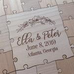 100-150 pcs Custom Wedding Guest Book Puzzle -Guest Book Alternative