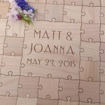 200-250 Large 2 inch pieces Custom Wedding Guest Book Puzzle -Guest Book Alternative - Mixed grain pieces