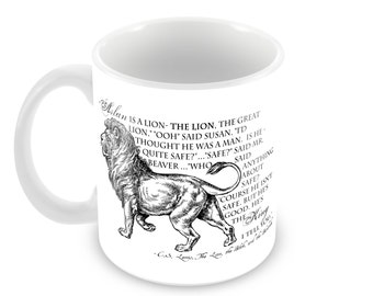 C.S. Lewis Ceramic Mug with Lion & Quote in Choice of 5 Mug Styles