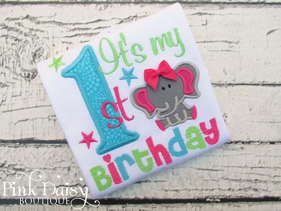Elephant Birthday Shirt For Girls