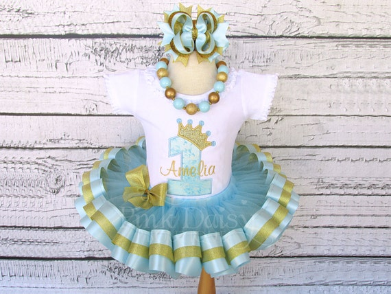 Royal Princess Toddler Tutu; Royal Birthday Tutu; Pastel and Gold Toddler Tutu