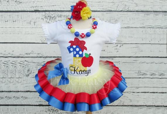 30c34cbde62 Snow White Birthday Outfit - Snow White Tutu - Snow White Birthday Dress - Snow  White Ribbon Tutu - Snow White First Birthday - Personalized