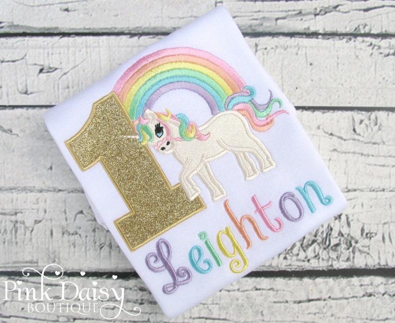 063b969b Unicorn Birthday Shirt Pastel Unicorn Shirt Rainbow | Etsy