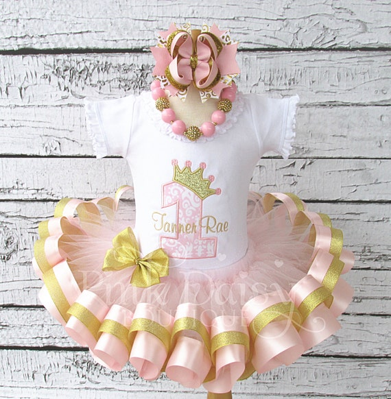 Pink And Gold Princess 1st Birthday Party Fresh Pink And: Pink And Gold Princess Birthday Outfit