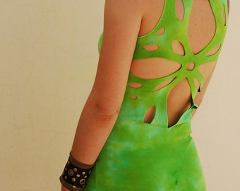 Summer Dress, Festival Clothing, Cut Out Dress, Fairy Tunic, Pixie Dress, Asymmetrical Dress, Burning man Festival