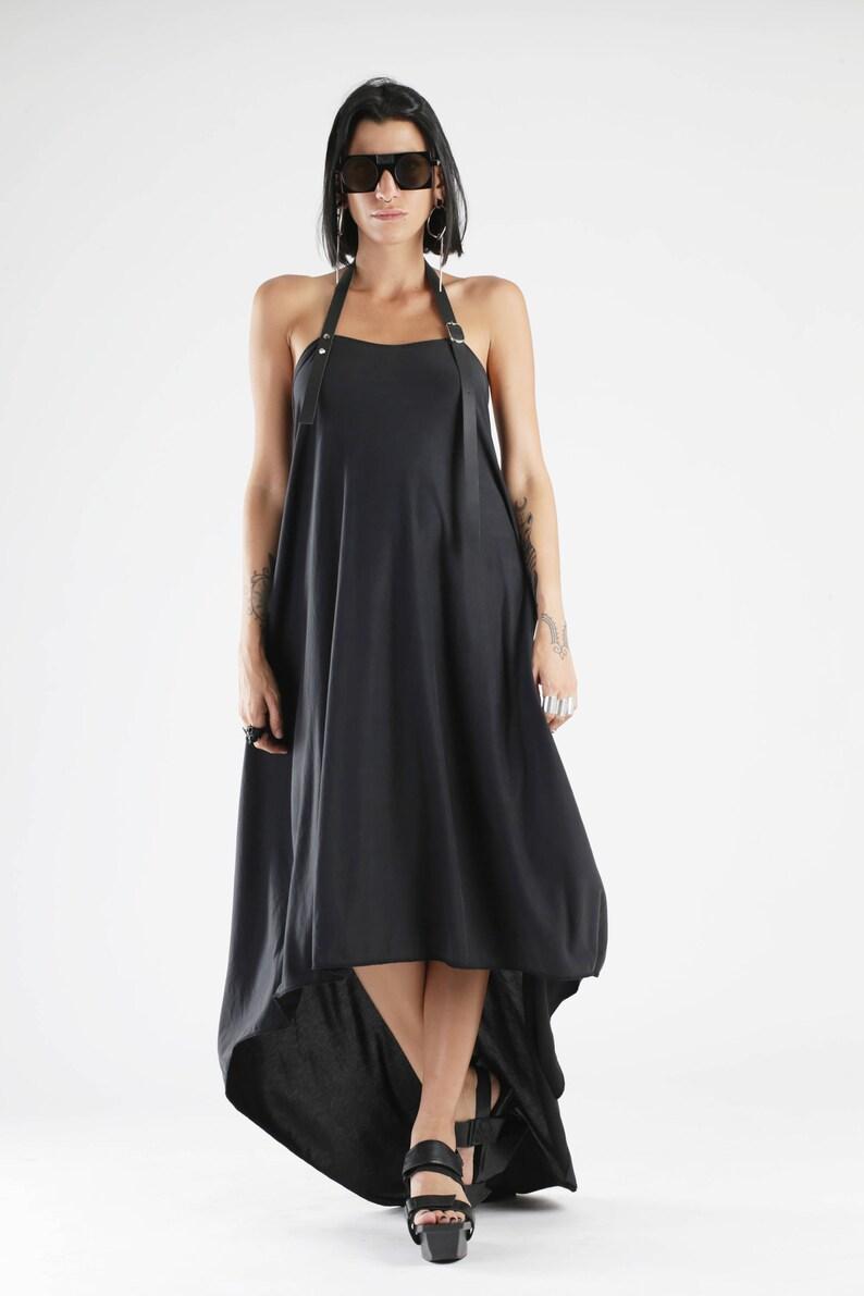 9aa962bc07f Black Dress Backless Dress Maxi Dress Gothic Clothing