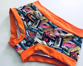 Scrundies - Womens Underwear - Womens Panties - Boy Shorts - Womens Undies - Scrundlewear - Underwear - Fun Undies - Undies - Large