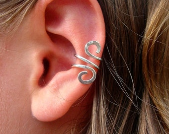 Ear Cuff Jewelry Single Silver Filled or Sterling Silver Ear Cuff, Hand Hammered and just gorgeous ear cuffs are SO trendy and sexy