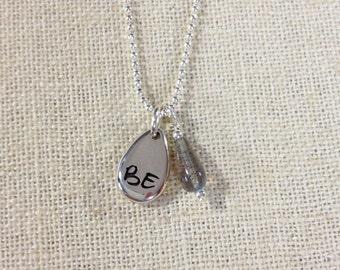 BE Strength Charm Necklace - Labradorite - ZEN by Karen Moore Jewelry