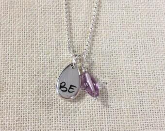 BE Wisdom Charm Necklace - Amethyst - ZEN by Karen Moore Jewelry