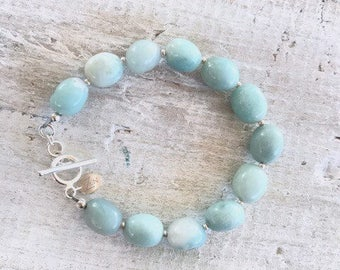Amazonite ZEN Gemstone Bracelet - Kindness, Balance, Luck - Communication Throat (5th) Chakra - ZEN by Karen Moore Jewelry