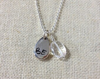 BE Clarity Charm Necklace - Clear Quartz - ZEN by Karen Moore Jewelry