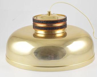 Big Brass pendant light, typical mid century hanging lamp