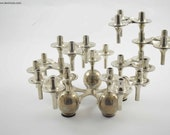 8 BMF orion candle holders plus a base, 8 design vintage stackable candleholders