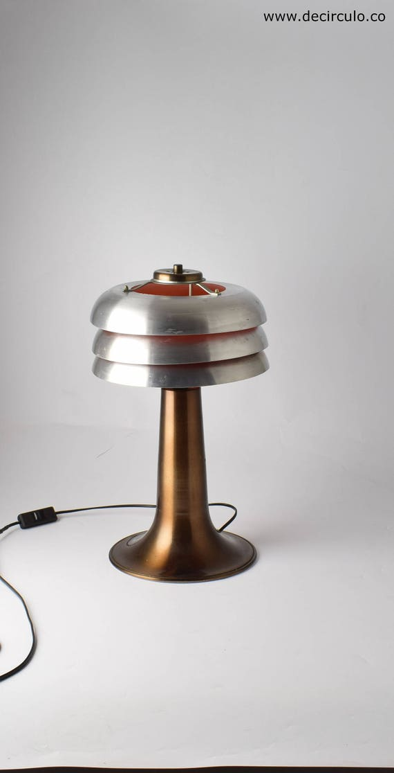 Lampe De Table Ancienne En Aluminium Lampe De Bureau Design Etsy