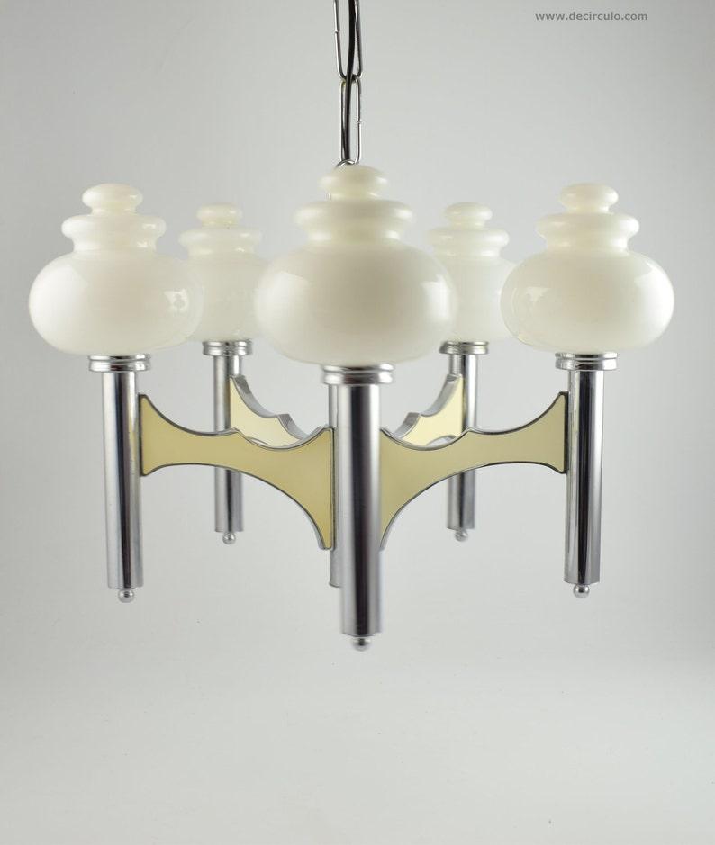 Sciolari pendant lamp large Italian five arm regency image 0