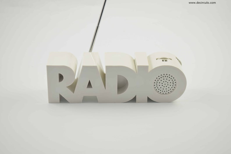 Radio radio Model in the form of the word radio. image 0