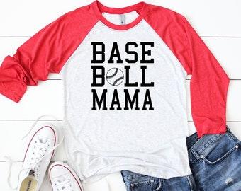 Baseball Mama Raglan Shirt - Baseball Tshirt - Graphic Baseball Mama Shirt - Baseball Shirt - Baseball Mama Tshirt - baseball Mom shirt