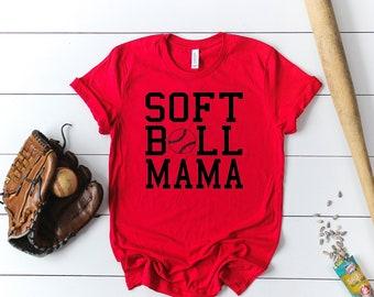 Softball Mama Short Sleeved Shirt - Softball Short Sleeve Tee - Softball Mom Triblend Short Sleeve Tee - Softball Mom Short Sleeve Tshirt