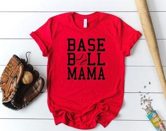 Baseball Mama Short Sleeved Shirt - Baseball Short Sleeve Tee - Baseball Mom Triblend Short Sleeve Tee - Baseball Mom Short Sleeve Tshirt