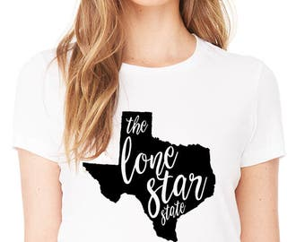 Lone Star State Short Sleeve Shirt - State of Texas Graphic Tee - Graphic Unisex Shirt - Texas T-shirt - Southern Girls Collection