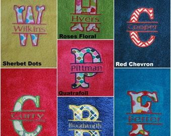 Monogram Towel - Monogrammed Towel - Name Towel - Personalized Towel - Personalized Towel - Custom Towel - Embroidered Towel - Door Towel